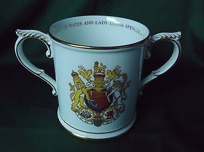 ROYAL WORCESTER COMMEMORATIVE LOVING CUP..CHARLES AND DIANA  No 472 OF 1000