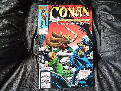 Conan the  Barbarian #  260 in nice condition  but for slight damp problem