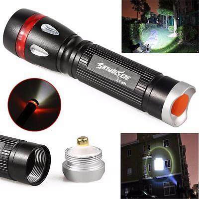 Zoomable 3000LM CREE XML T6 LED Military Flashlight Torch Lamp Light Outdoor UK