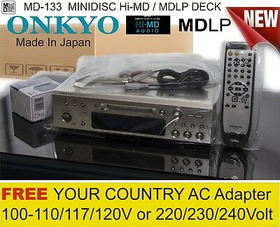 NEW! Hi-MD MDLP ONKYO World AC 110-220-240V MINIDISC Rec MD-133 HiMD Sony DECK