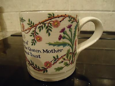 Boncath Pottery,queen Mother 80Th Birthday Mug, Dorn Williams For National Trust