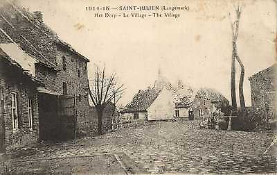 SJ1001/2: St Julien, Ypres. 2 early WWI cards