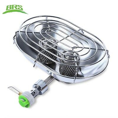 BRS Warmer Heater Heating Gas Stove Double Burner for Outdoor Camping Fishing US