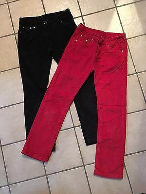 lot 2 pantalons Fille taille 10 ans