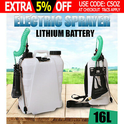 16L Electric Backpack Sprayer Weed Garden Farm Chemical Spray Rechargeable NEW
