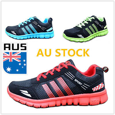 Men's Outdoor Running Trainers Casual Lace Up Gym Flat Breathable Sports Shoes
