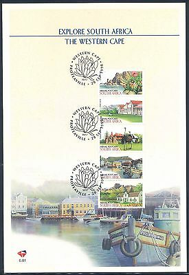 """South Africa 1998 """"Explore Natal and Western Cape"""" First Day Sheets x (2)"""