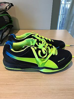 Brand New Puma Evospeed Trainers Converted To Cricket Shoes Size US 9.5 Bargain!