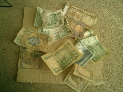 Banknotes Joblot Of 11 From Various Countries Vintage Lot!