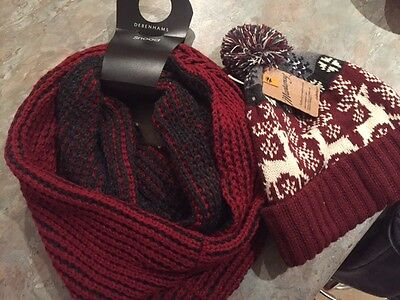 Womens Woollen Hat and Snood
