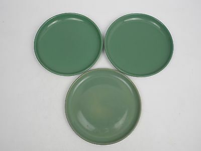 "3 x Denby Green Manor 6.5"" tea plates"