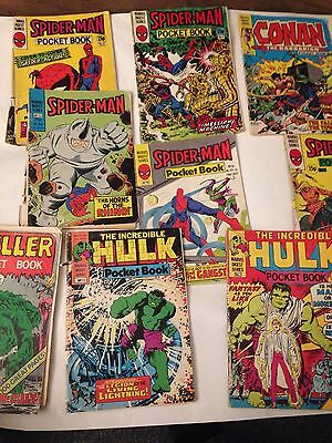 9 x Marvel Pocketbook Comics- Various Condition -Rare