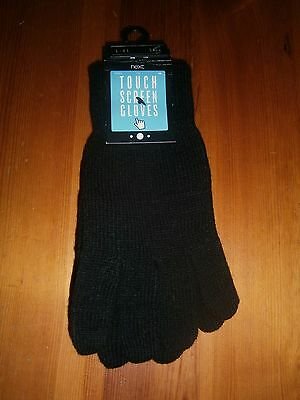 NEW NEXT Black Touch Screen Gloves Size L-XL