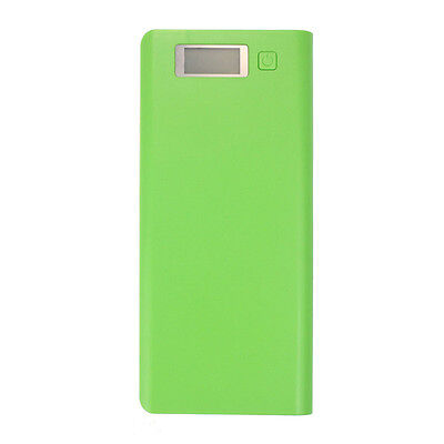 5V 3A USB 18650 Power Bank Battery Box Charger For iphone6 Plus S6 Green UK UK