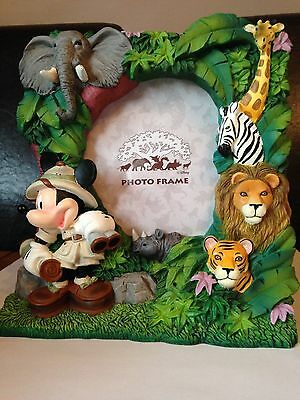 Large Heavy Disney Animal Kingdom Mickey Mouse Photo Frame, Excellent Condition