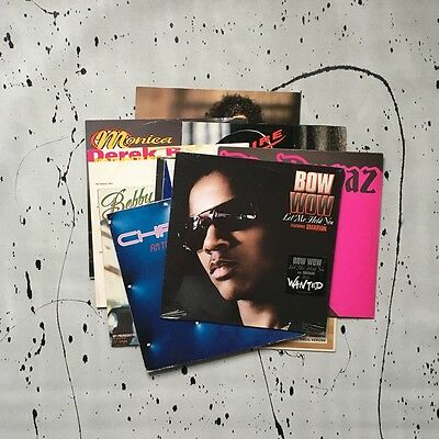 A Collection of R&B Vinyl Records from the 80s - 90s & 00s