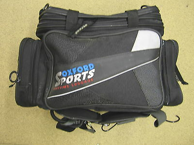 Black 40L Oxford Sports Lifetime expandable tailpack, luggage rack carrier