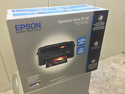 New EPSON Expression Home XP-100 All-In-One InkJet Printer and Scanner
