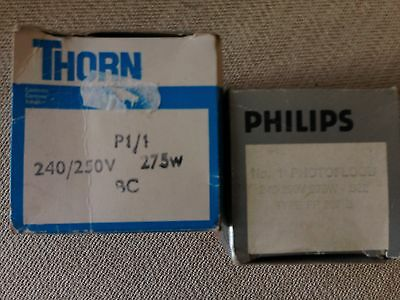 PHOTOLAMPS 275w PHILIPS/ THORN PHOTOLITA  BULB BC FIT PHOTAX REFLECTORS