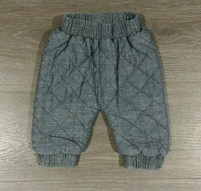 Seed Heritage Baby Quilted Chambray Pants 0-3 months new without tags