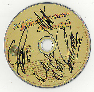 """"""" Hand Signed-Status Quo Cd & Sleeve - In Search Of The Forth Cord."""