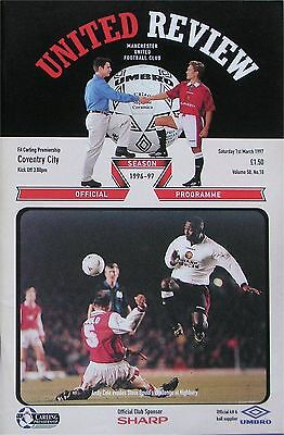 MANCHESTER UNITED v COVENTRY CITY Premier League 1996/97