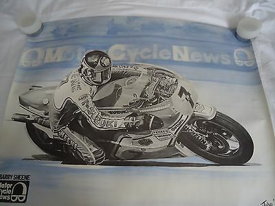 4 Motor Cycle News Moto Cross Drawings (Barry Sheen + 3)