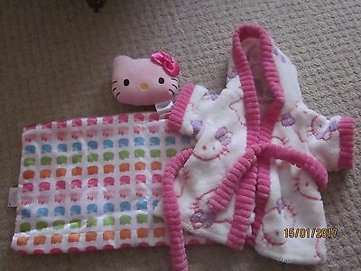 Build A Bear - Hello Kitty Dressing Gown & Bedding Set