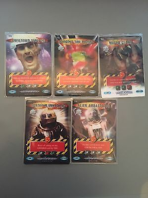 Doctor Who Battles In Time Ultimate Monsters Set Of 5 Ultra Rare Cards