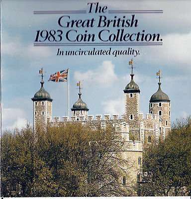 """1983 UK """"Martini"""" """"The Great British Coin Collection"""" Uncirculated coin set"""