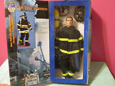 """Fire Zone Firefighter Action Figure FDNY New York City Department Size 12"""" New"""