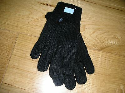 BN authentic girls Dior black stretch knitted gloves