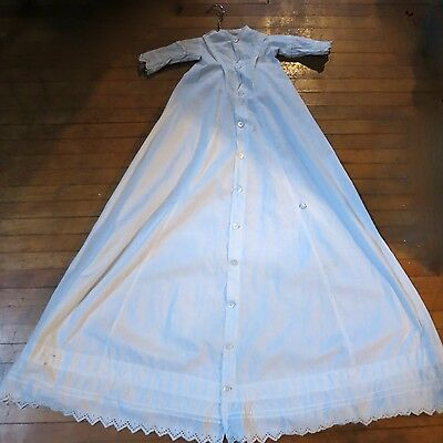 Vintage Antique Baby Christening Gown Long with Bonnet