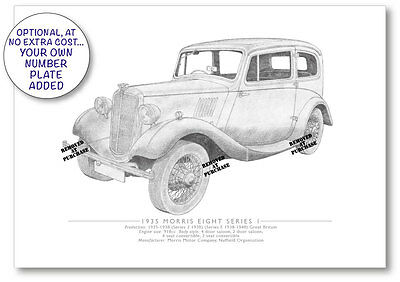 Morris Eight Series 1 1935 A5 print