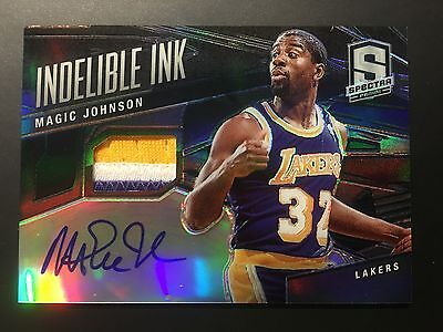 2013-14 Panini Spectra Indelible Ink - Magic Johnson 1/1 Auto Patch