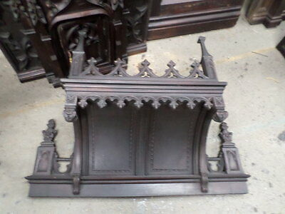 French Antique Religious Gothic Dais Canopy 1700s