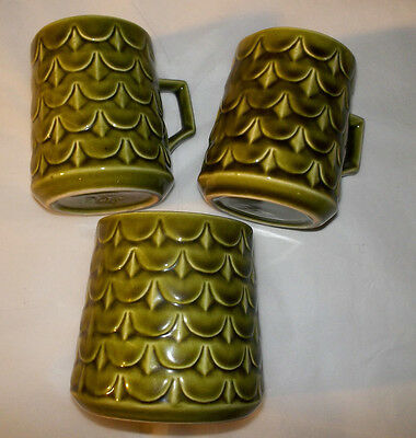 Vintage Eastgate Withensea 2 Cups, Sugar Bowl, Green