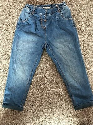 Next Girls Trousers / Chinos Age 2-3yrs