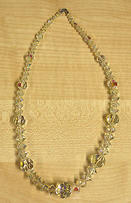 Vintage Crystal Glass Bead Necklace