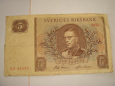 Sweden 1955 five ore nice  example see scan