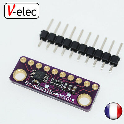1259# ADS1015 12-Bit ADC- 4 Channel with Programmable Gain Amplifier For Arduino