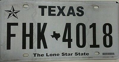 Texas License Plate FHK -4018