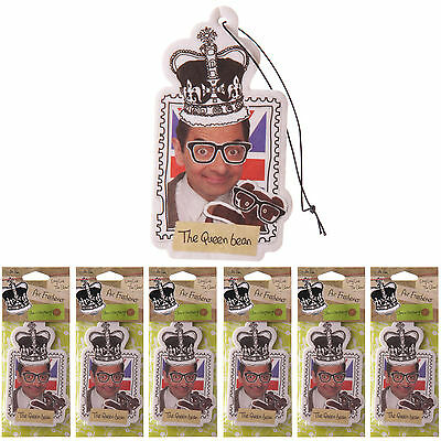 6 x Mr Bean Novelty Car Hanging Air Freshener RASPBERRY Fragrance Scent