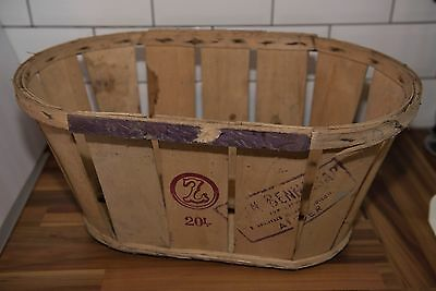 Very nice old potatoes wooden basket tray