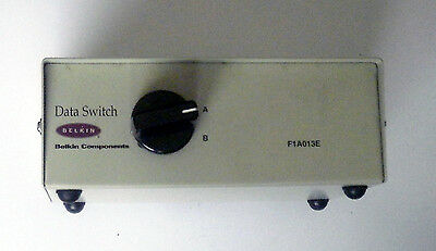 Vintage computer data switch manufactured by Belkin