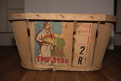 Very nice old potatoes vegetables wooden basket tray
