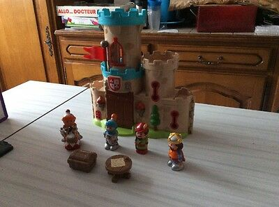 Château fort avec 4 personnages Happyland Oxybul
