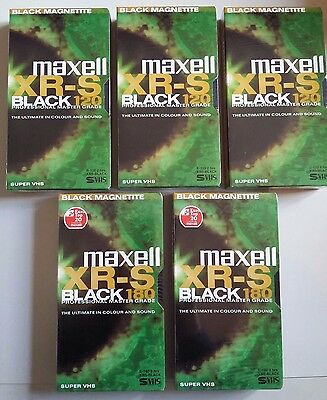 5 videocassette super vhs Maxell XR-S nuove sigillate