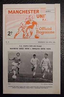 George Best Debut 24/04/1963 Manchester United Youth V Newcastle United Youth