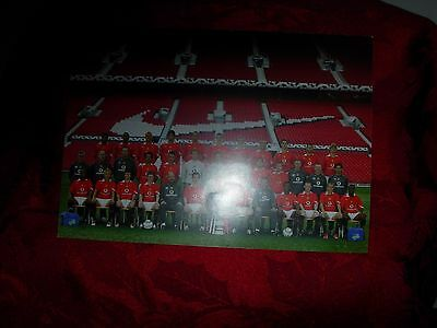 Manchester United  Printed Photo  With Names And Signatures